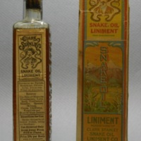 Clark Stanley Snake Oil Liniment bottle with box