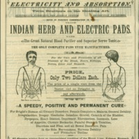 Indian Herb and Electric Pads advertisement