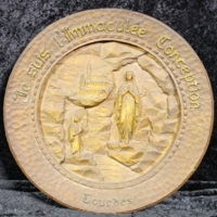 Lourdes plate