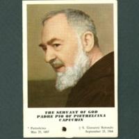 Padre Pio prayer card