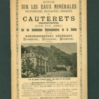 Cauterets Resort pamphlet
