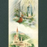 Lourdes funeral card