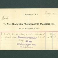 Rochester Homeopathic Hospital Bill