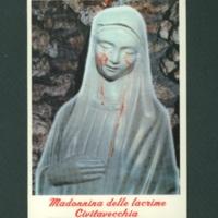 Weeping Madonna postcard