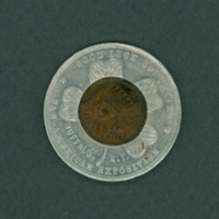 Indian Head Penny in Pan-American Exposition Souvenir